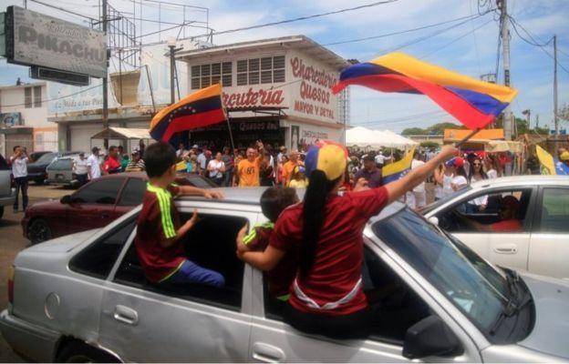 La oposición también se movilizó en Maracaibo, en el oeste de Venezuela/ EPA