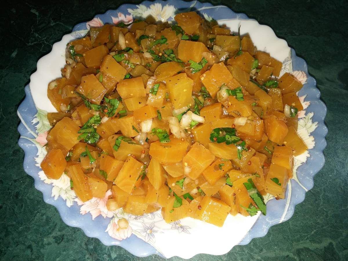 Salade de betterave jaune au balsamique:
