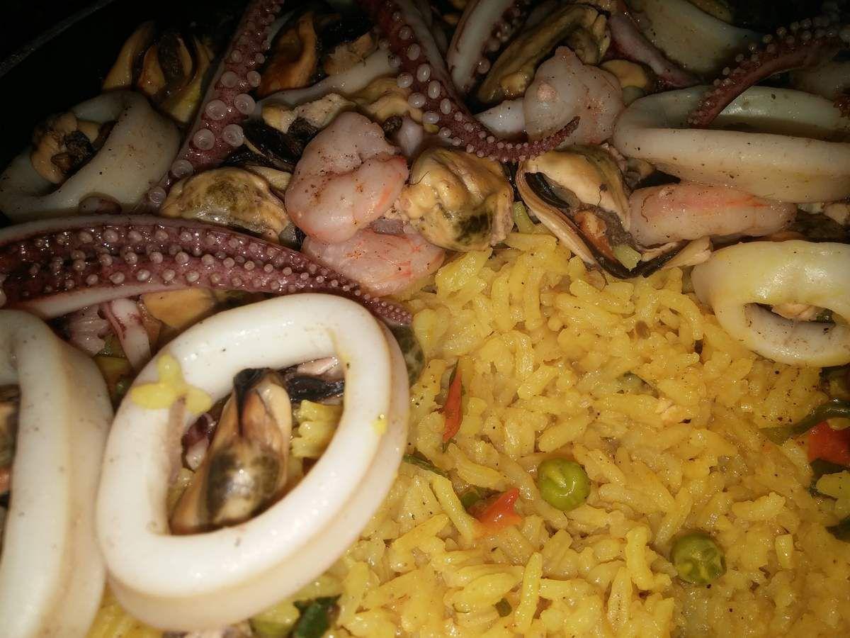 Paella Valencienne aux fruits de mer :