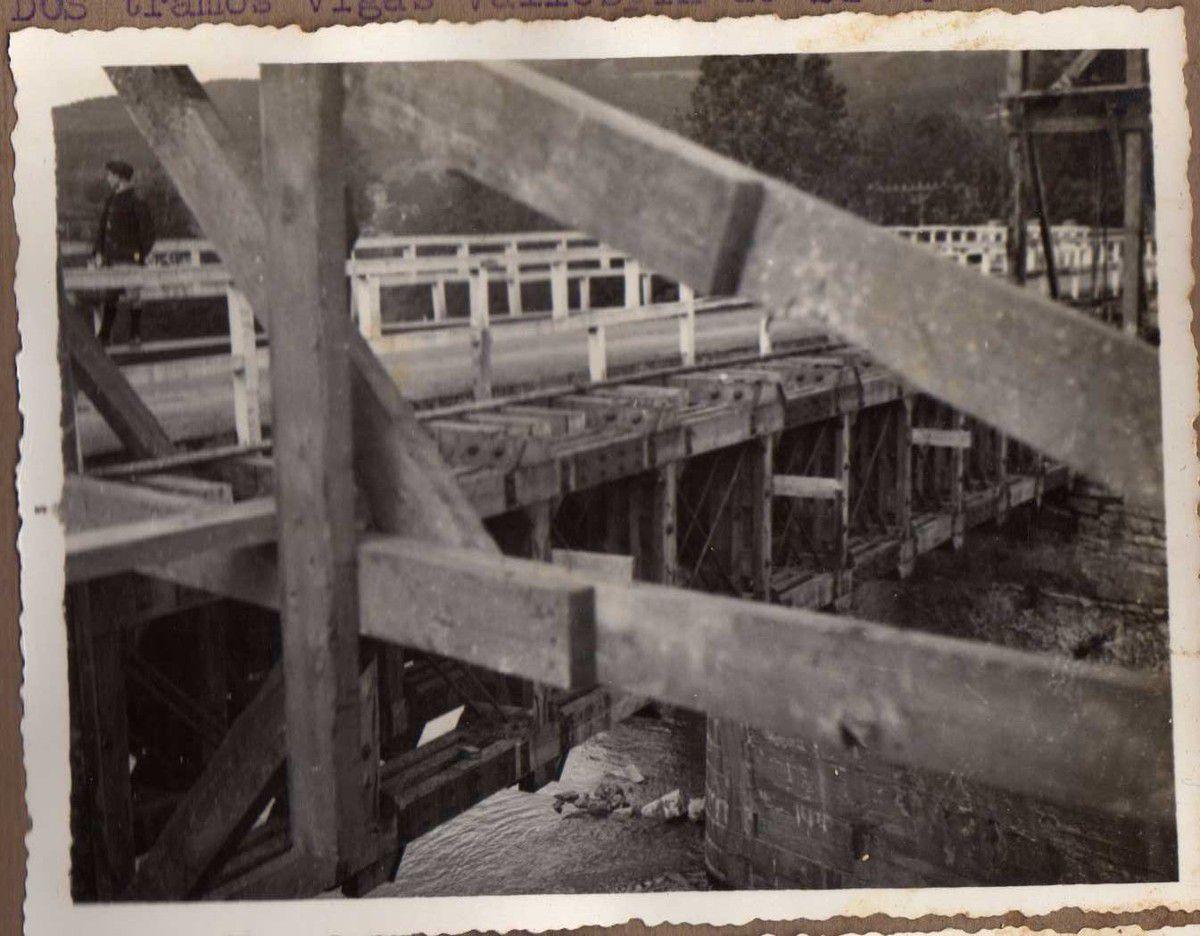 Puente de Lemona. Dos tramos vigas Vallespín de 24 m.