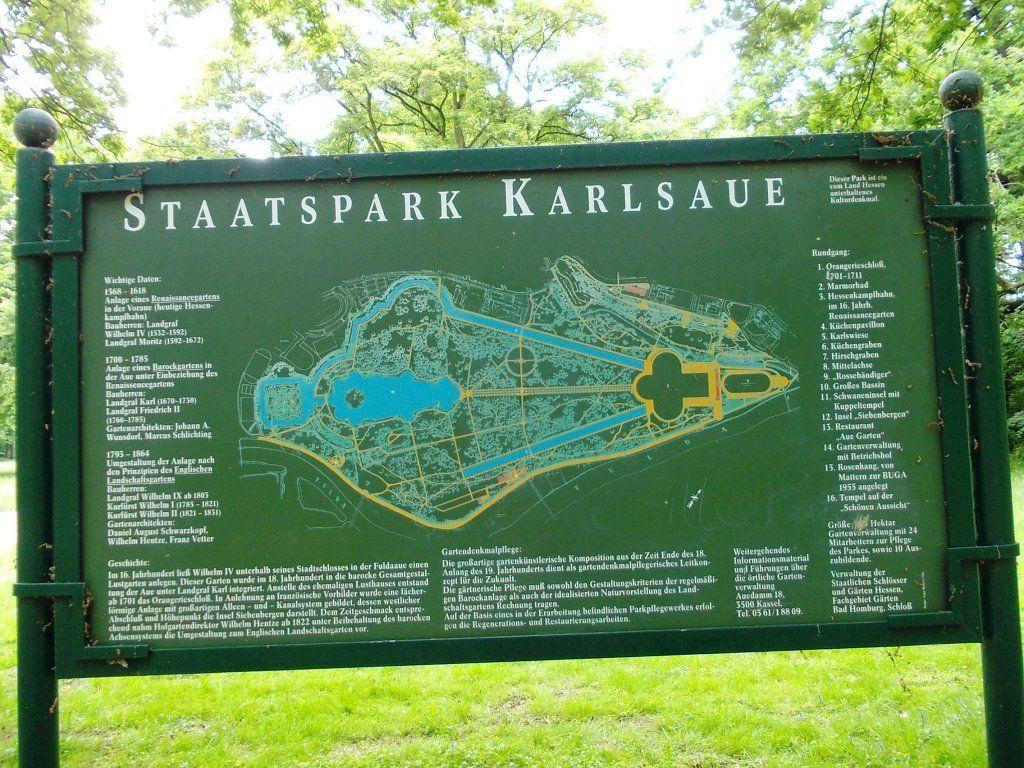 Und dann noch ein paar Runden im Staatspark Karlsaue.