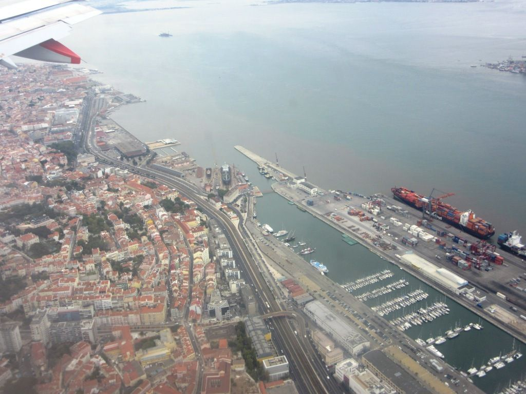 Der Lissaboner Containerhafen