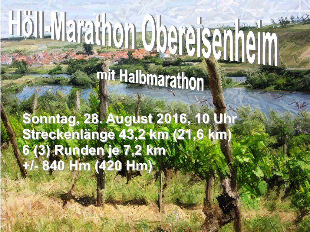 Höll-Marathon Obereisenheim; Ausschreibung