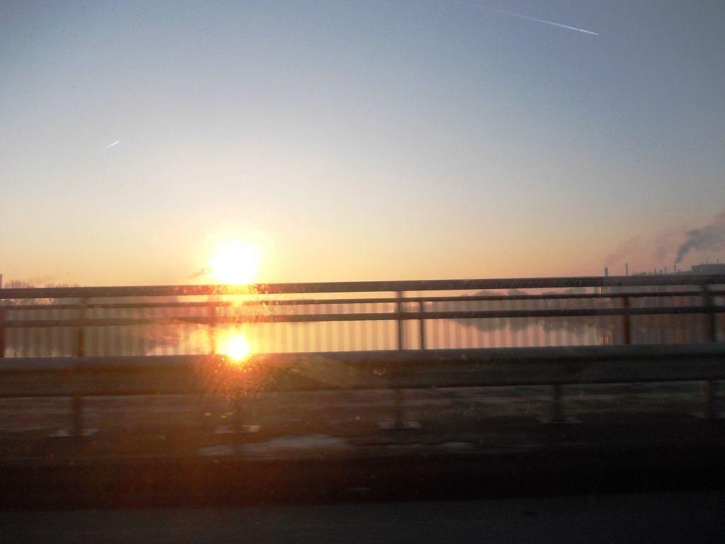 Sonnenaufgang über der Norderelbe