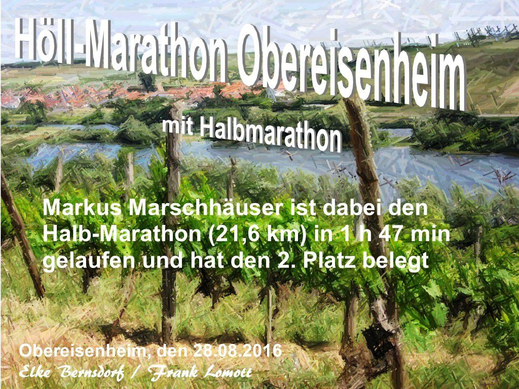 Höll-Marathon Obereisenheim&#x3B; Beurkundet