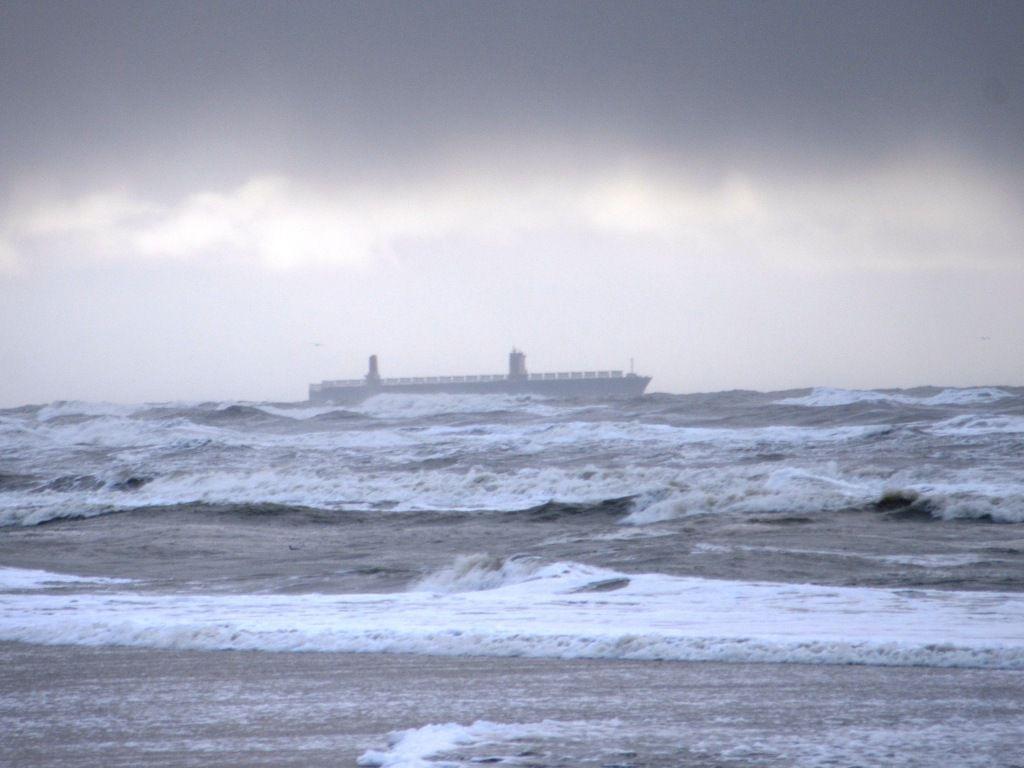 die Nordsee zeigt sich mal wieder von ihrer rauhen Seite