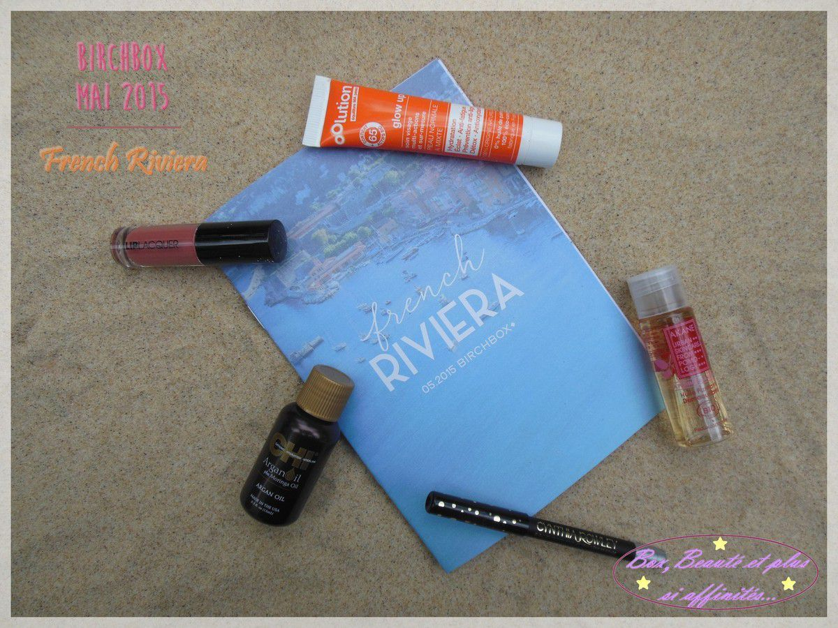 Birchbox Mai 2015 - French Riviera