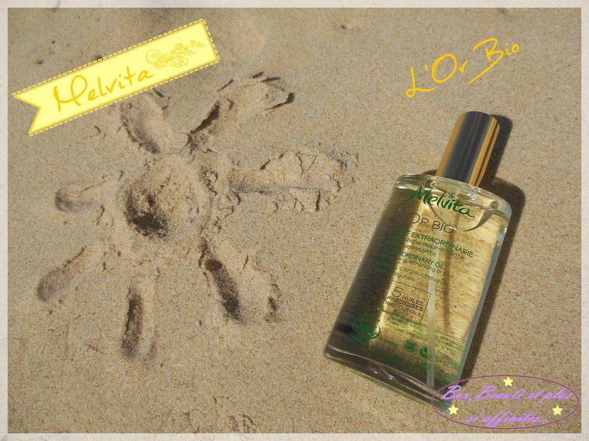 Du soleil avec Melvita et L'Or Bio