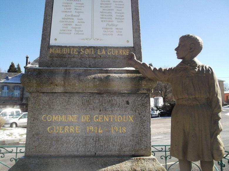 « Maudite soit la guerre » : le monument aux morts de Gentioux, dans la Creuse (Photo Patrick Le Moal)