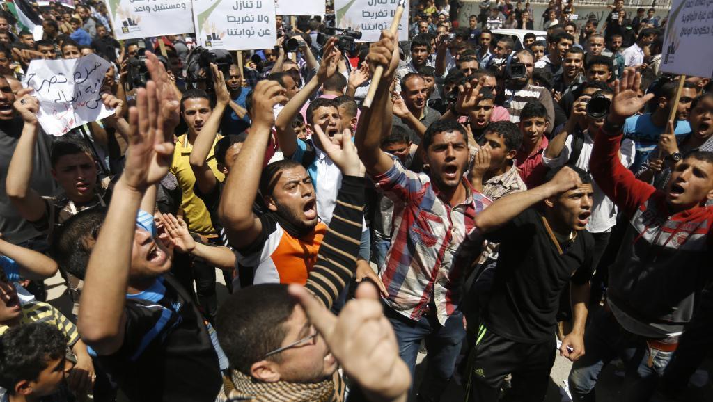 Mobilisation populaire mercredi 29 avril à Gaza pour réclamer notamment la fin de la division entre le Hamas et le Fatah.