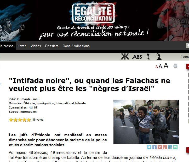 Sur le site néo-fasciste de Soral.