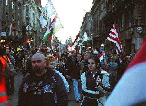Manifestation du Fidesz. Budapest, mars 2007. cc Habeebee.