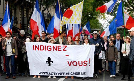 Cortège de l'AF à la Manif pour Tous (20/10/2013).