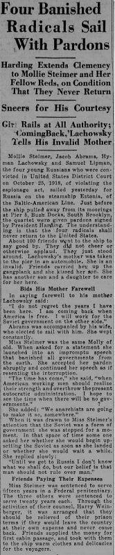 New York Tribune, 24 novembre 1921.