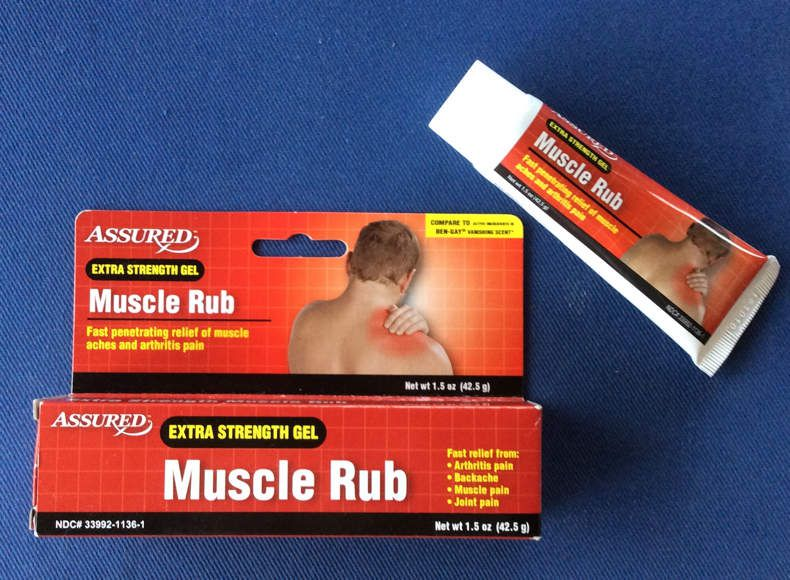 Billig-Variante von Muscle Rub