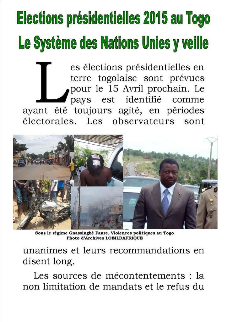 Elections présidentielles 2015 au Togo