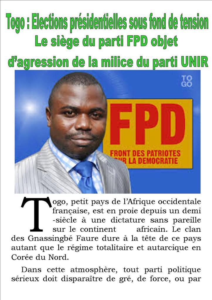 Togo : Elections présidentielles sous fond de tension