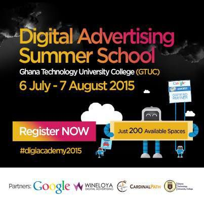 Enroll for our Digital Advertising Summer School at Ghana Technology University College, Tesano. In partnership with Google &amp&#x3B; Cardinal Path USA.