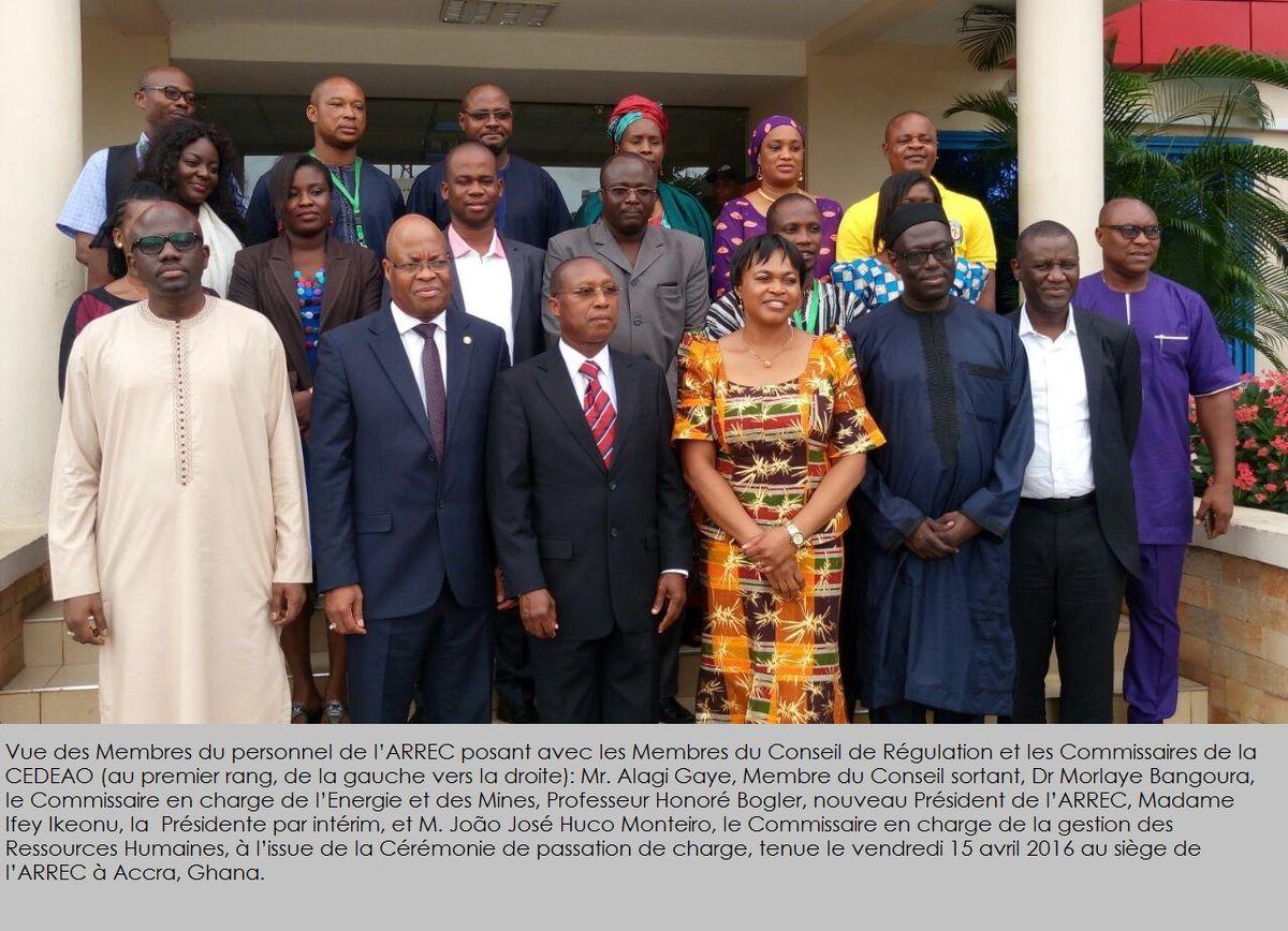 Le nouveau Président de l'ARREC prend fonction à Accra