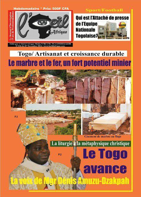 Votre Journal L'Oeil d'Afrique n°236 dans les kiosques