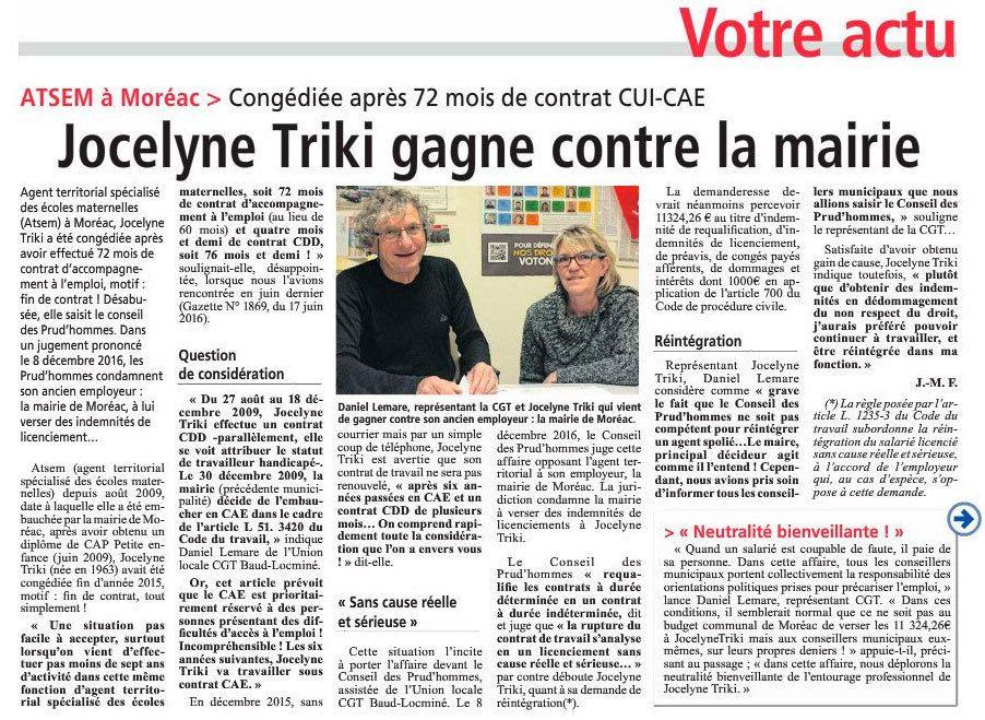 Gazette du Centre Morbihan décembre 2016