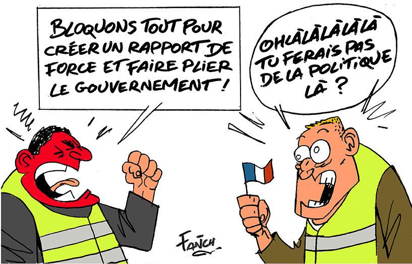 Image result for gilets jaunes cartoons