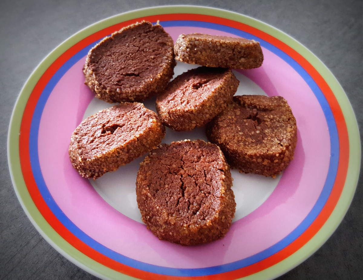 Biscuits diamants au cacao