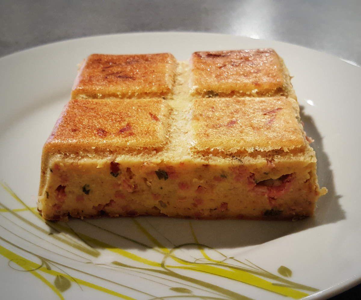 Gâteau de pain rassis jambon/fromage