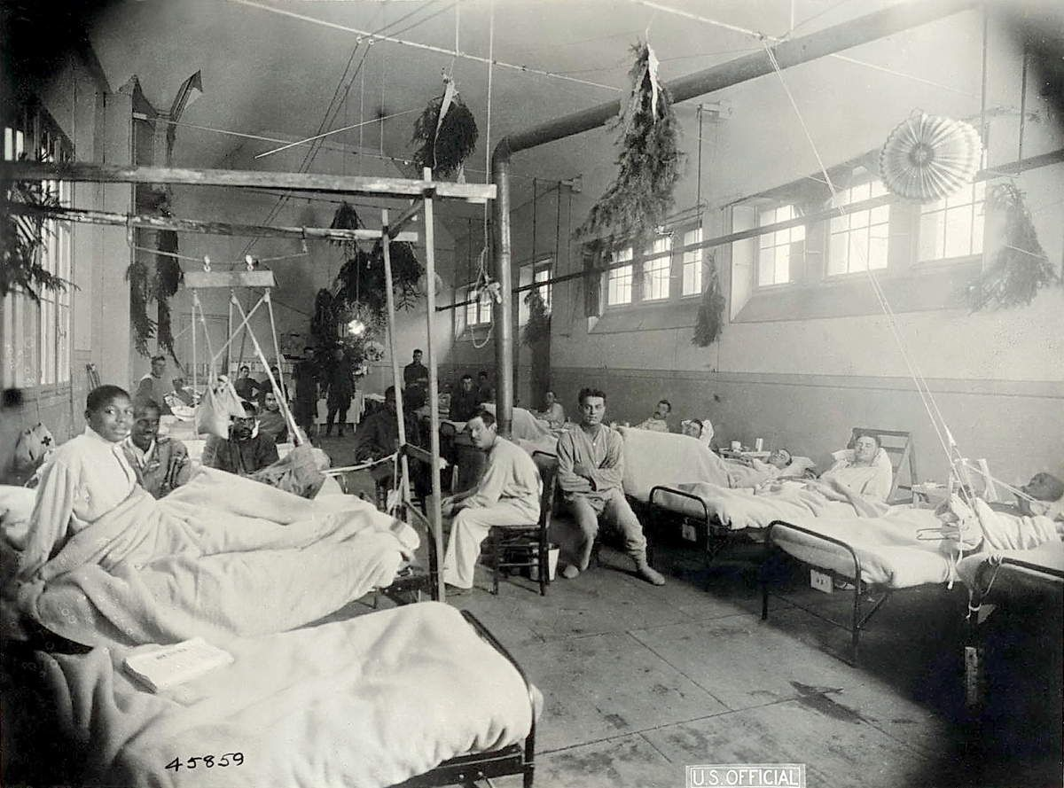 Surgical Ward VI, Camp Hospital 28, Nevers France, 1918