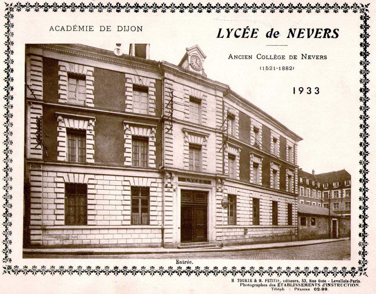 Le lycée de Nevers en 1933