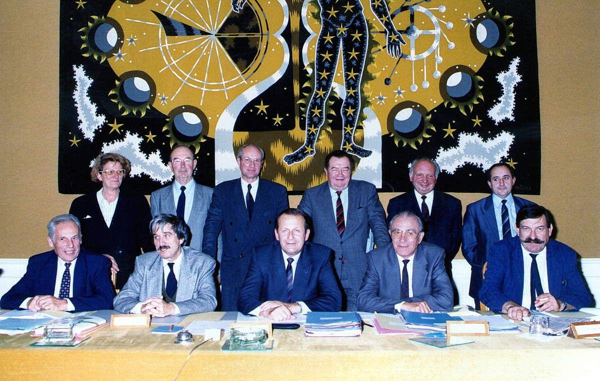 Le Président et ses Vice-Présidents en 1989