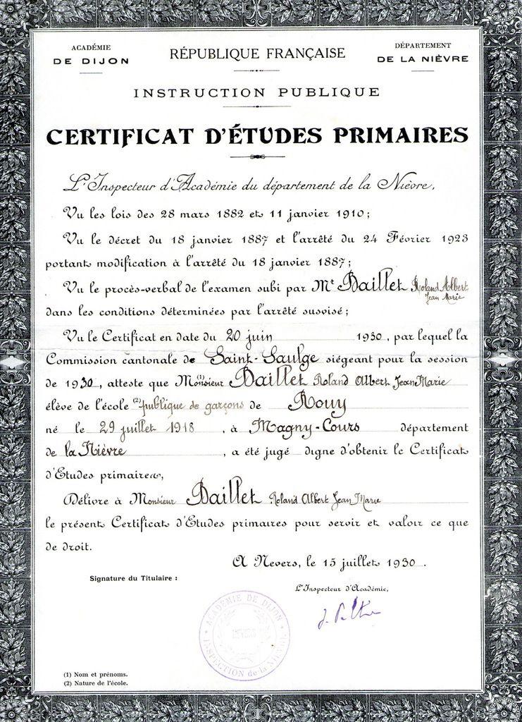 Rouy - Famille Baillet-Vérat