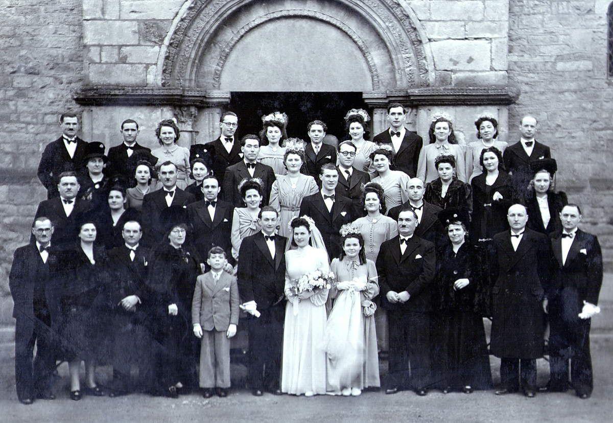 Le mariage de Roger et Paulette à Rouy en 1946