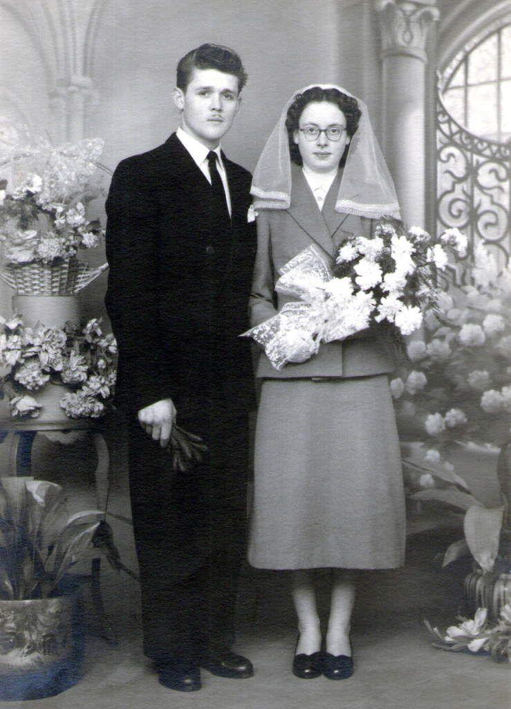 Mariage de F. Golob avec Mauricette