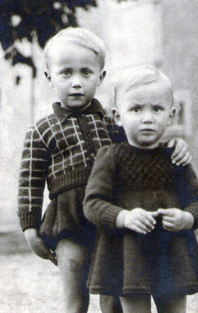 Yvon et sa soeur Thérèse