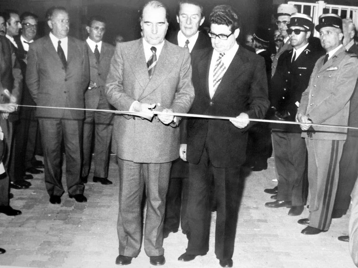 Le Préfet Gandoin et le Président Mitterrand