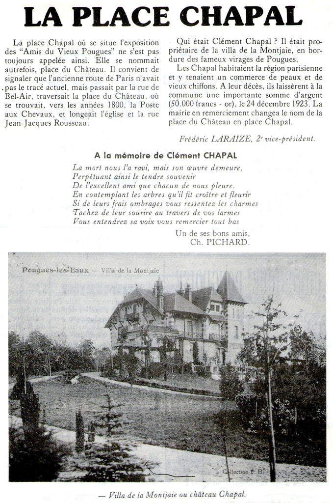Pougues, Villa de la Montjaie