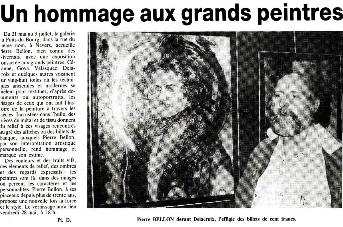 Galerie du Puits du Bourg - Nevers, quelques articles des années 90