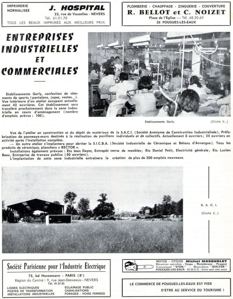 1973 - Etablissements Gerly à Pougues