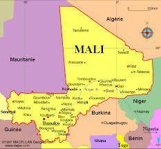 Carte du Mali, avec la visualisation des pays voisins. Intervention d'Emmanuel Nkunzumwami sur l'économie du Mali.