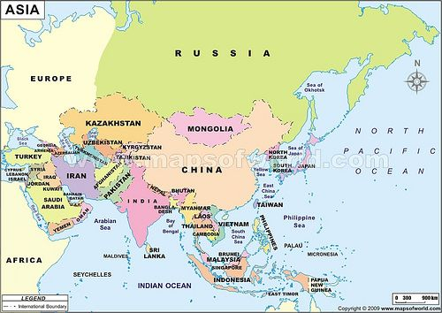 Namanama Negara di Benua Asia  Ngeblog Aja