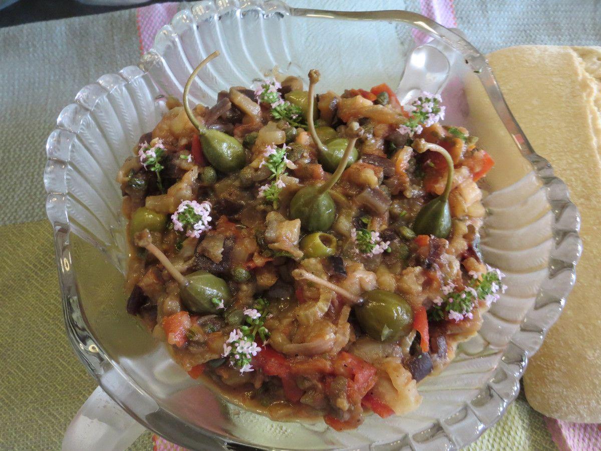 Revisitée à ma façon,  la Caponata (recette du magazine Hors série de Maxi Cuisine) eu un énorme succès