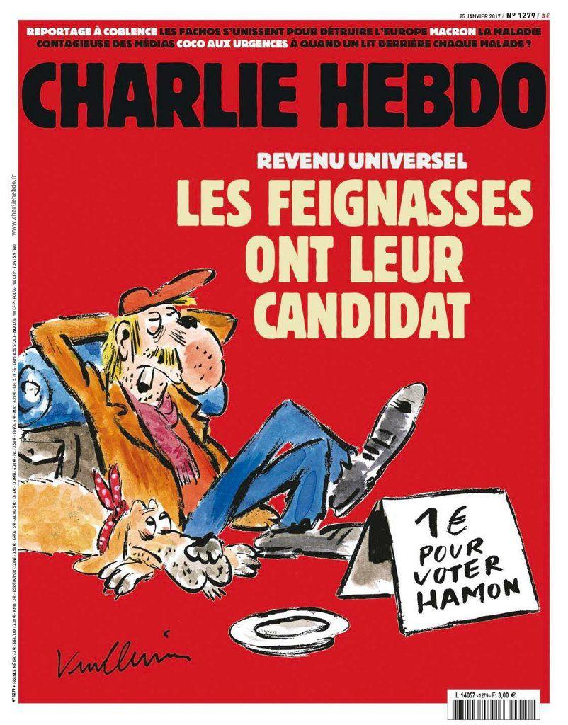 Revenu universel : les feignasses ont leur candidat (Charlie Hebdo)