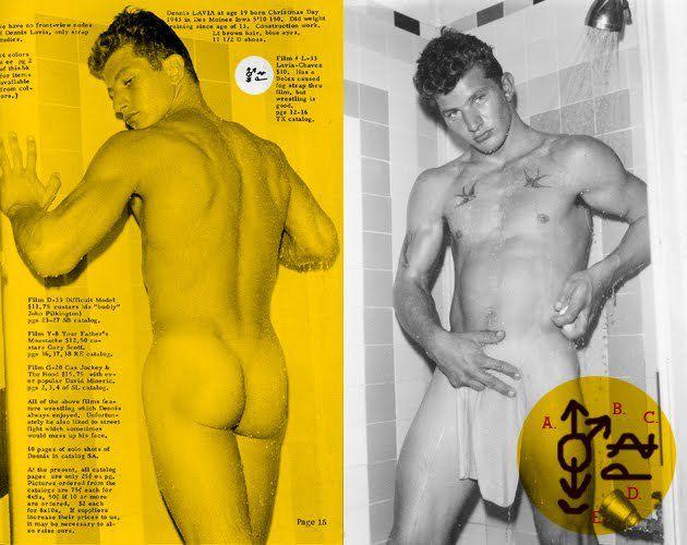 """Dennis Lavia, prostitué hétérosexuel, peut être sucé, accepte la sodomie (décodage des symboles de la revue """"Physique Pictorial"""")"""