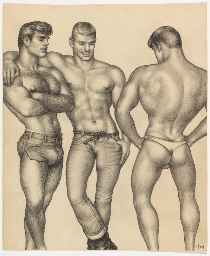 Dessin Tom of Finland (Touko Laaksonen) MOMA de New York