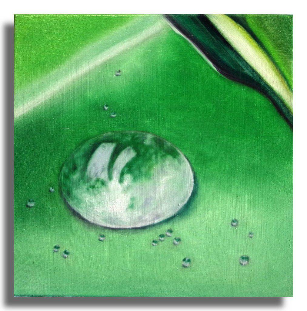 Wassertropfen - Ölgemälde