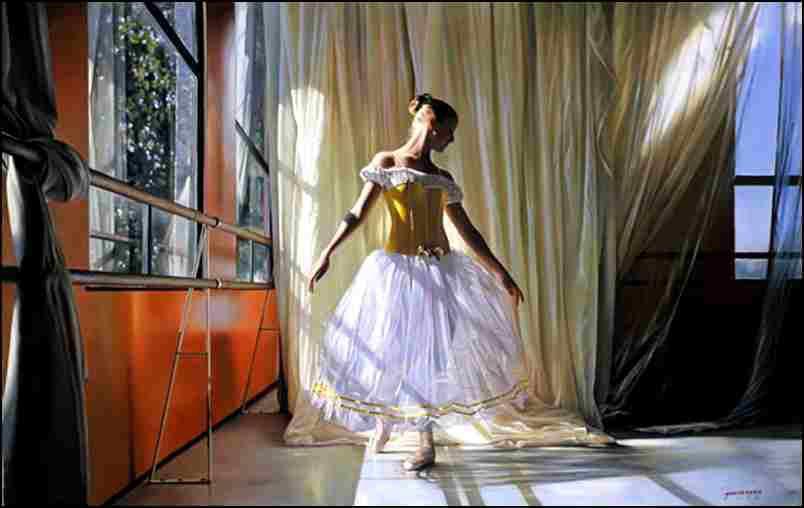 danseuse - blanc sur blanc