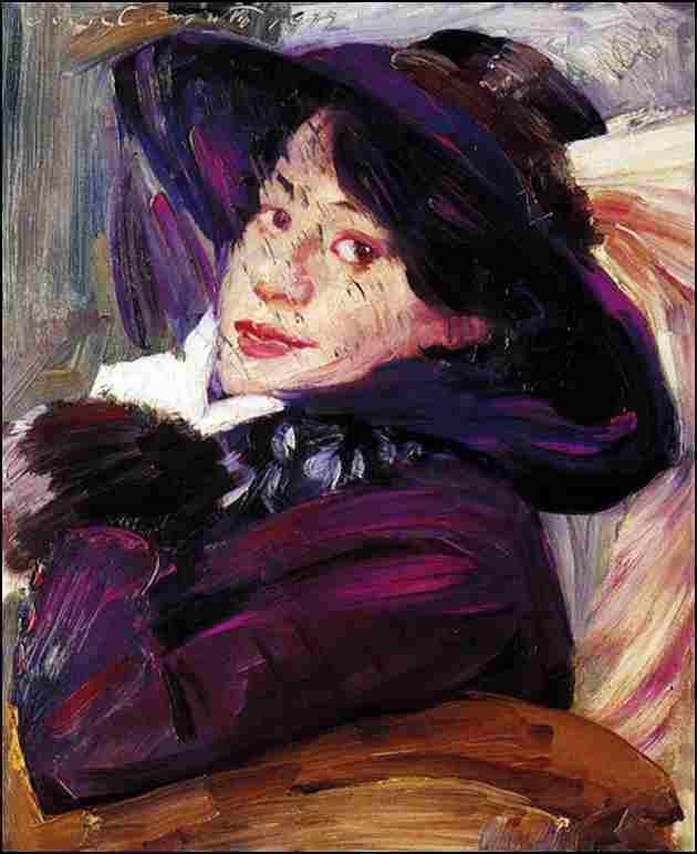 Femme au chapeau violet - 1912