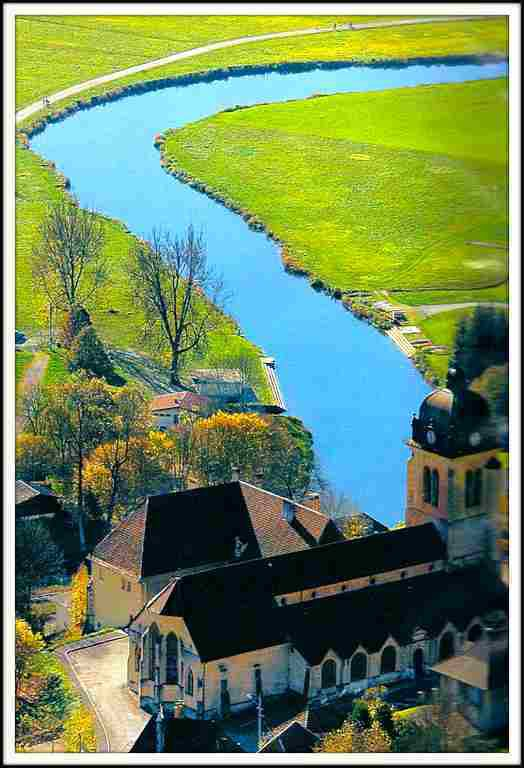 Le Doubs à Morteau (Doubs)
