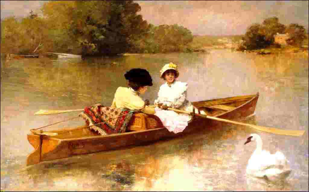 En barque sur la Seine